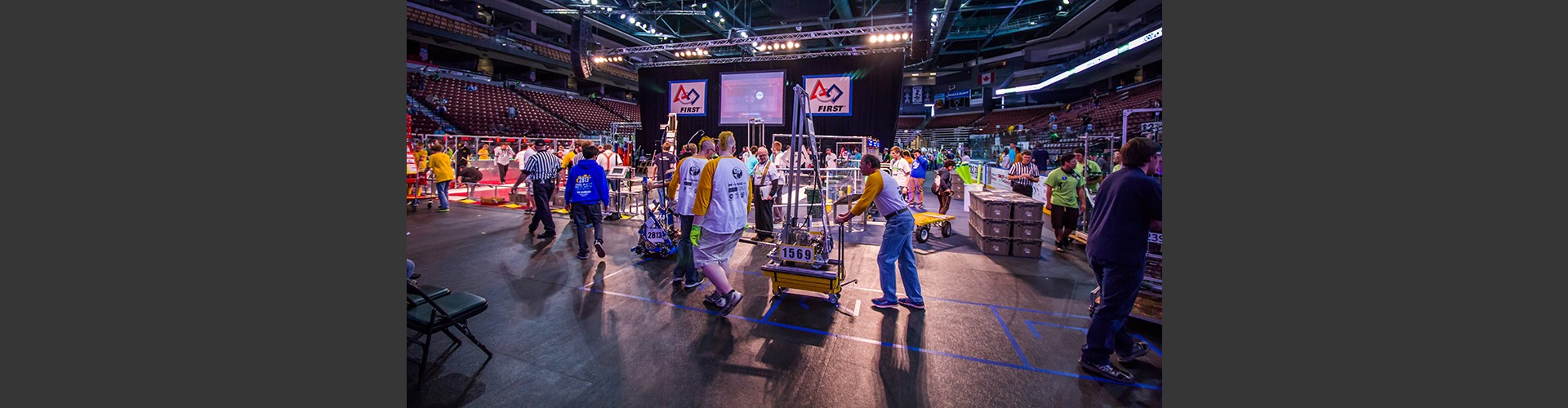 Haywire Robotics team at a competition.